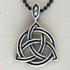 Trinitarian Trinity Triquetra Celtic knot God Norse Viking Charmed Pewter Pendan