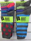 Mens RJM Accessories Striped & Spotty Classic Ankle Socks 3 Pairs SK019