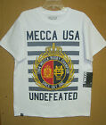 NEW W/T MECCA MENS WHITE GRAPHIC T-SHIRT M, L