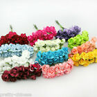 144 Chic Mini Petite Paper Artificial Rose Buds Flowers DIY Craft Scrapbook