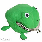 New Cool Green Frog Fluff Coin Purse Wallet Cute Ninja Anime Manga Cartoon
