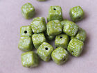 10 x 12mm handmade CUBE/SQUARE fimo beads for crafts and beading