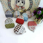 8/16/24/48PCS Wholesale Mixed DOT CHECK LACE TRIM Coin Bag Purse Wallet SNA043