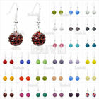 25 Colors New Fashion 10mm Crystal Disco Ball Iron Ear Studs Earrings Wholesale