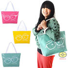 Lady PU Cartoon Glasses Image Shopper Hobo Tote Satchel Shoulder Handbag YBS095