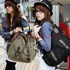 Ladies Womens Big Canvas Purse Handbag Messenger Satchel Casual Shoulder Bag