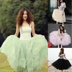 Stylish Hot Womens 5 Layers Tutu Princess Skirt Petticoat Knee-Length Mini Dress