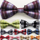 Yibei Ties Adjustable Bowties Adults Bow-Tie Woven Grids Checked Tuxedo Bow tie