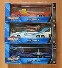 TEAMSTERZ DIECAST RED WHITE or BLUE CITY COACH AIRPORT BUS MODEL BOYS TOY