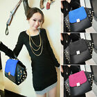 London Stock Lady Spike Studs Faux Leather Handbag Messenger Tote Bag in 3Colors