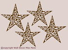 Cheetah Leopard Animal Print Star Wall Vinyl Sticker Decal 4pc Large 9in 10in
