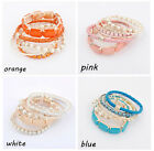 Bohemian Romatic Fashion Bracelet Set Bangle 6pcs Multilayer Beads JW066