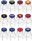 Choose NCAA P-Z Team L8C3C Chrome Single-Ring Swivel Bar Stool w/ Ribbed Accent