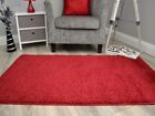 Dark Ruby Red Thick Machine Washable Super Soft Plain Floor Rugs Mats Rug Cheap