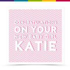 Personalised New Baby Christening Godson Goddaughter Card - Lea