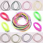 Lot Silk Ropes 3mm Lobster Clasp Adjust Necklace Pendant Cords Mix Colors Strand