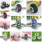 5pc Rhinestone Resin European Crystal Beads Fit Bracelet Charm For DIY Jewelry