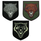 PATCH GOMME 3D WOLF LOUP VELCRO ARMEE PAINTBALL AIRSOFT MILITAIRE ECUSSON