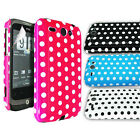 Polkadots Hard Glossy/Silicone Case Cover for HTC Wildfire G8 Free Screen Film