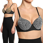 MOGAN Dazzling Ombre SPIKE PUSH UP BRA Sexy Studded Embellished Bandeau Top