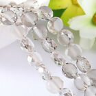 70pcs diamond white shining bright Beads Faceted Glass Crystal Spacer Bead N8683