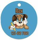Personalized Custom Pet Dog Cat Tag ID Silly Funny writing phone # Any name Text