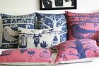 Nordic Abstract Cotton&Linen Bird on Tree Print Sofa cushion/pillow cover