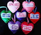 NEW SHABBY SHIC HANDMADE PADDED HANGING HEART FUNNY SIGN PLAQUE PRESENT GIFT