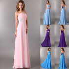 New BEADED Long Chiffon Prom Evening gowns Bridesmaid Ball Cocktail Party Dress
