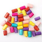 112633 Wholesale Lot Assorted Colorful Cylinder Charms Wooden Spacer Beads 4x6mm