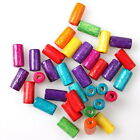 112634 Wholesale Lots Fashion Colorful Cylinder Charms Wooden Spacer Beads 4x8mm