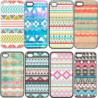 Chevron Tribal Andes Aztec Printed TPU Hard Plastic Case Cover for iPhone 4 4S 5