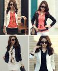 Fashion Womens Slim One Button Long Sleeve surcoat Blazer Casual Coat Jacket