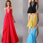 One-Shoulder Bridesmaid Wedding Party Long Evening Cocktail Ball Gown UK Sz 6~20