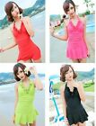 One Piece Y1358 Padded Swimwear Swimsuit Swimdress Tankini with attached bottom