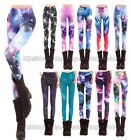 New Women Multicolored Galaxy Printed Stretchy Jeans Leggings Pants
