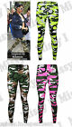 New Womens Ladies Army Camouflage Print Full Length Ankle Leggings 8-18