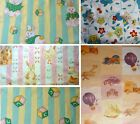 Vintage cars planes Baby bunnies stripes Nursery Children jungle Print Fabrics