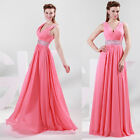 Sexy Lady Deep V Formal Wedding Ball Gown Evening Prom Party Long Maxi Dress NEW