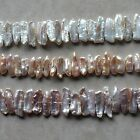"""Natural Freshwater Pearl 10-20 mm Stick Loose Beads 14.5"""" strand"""