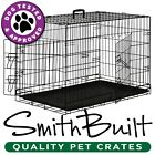 Black Dog Cage Crate Suitcase Folding Animal Kennel Pet Puppy Pen ABS Tray Pan
