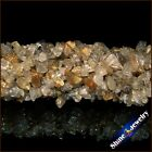 "1/2/5 PCS 36"" Strand Natural Gold Rutilated Quartz Chip Gems Loose Beads 5-8mm"