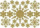 Die Cut GLITTER SNOWFLAKES (A) x 21 CHRISTMAS / WINTER for cardmaking 4 sizes