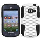 Samsung Galaxy Centura S738C MESH Hybrid Silicone Rubber Skin Case Phone Cover