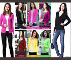 NEW Women long sleeve Button front Cardigan Sweater V neck knitted coat freeship