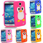 3D Cute Cartoon Penguin Gel Silicone Soft Case Cover for Samsung Galaxy S4 i9500
