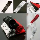 Woman Men's Sport Spider Web Cobweb Arm Sleeve Antiskid Stretch Elbow Brace Red