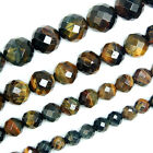 Faceted Yellow Blue Tiger Eye Round Beads Pick Size 6,8,10,12mm