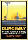 Dungeness, Kent. Vintage Romney, Hythe & Dymchurch Railway poster by NC Roberts