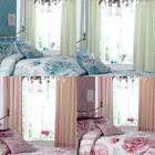 Catherine Lansfield Ilona Floral Pencil Pleat Lined Curtains, 66 x 72 Inch